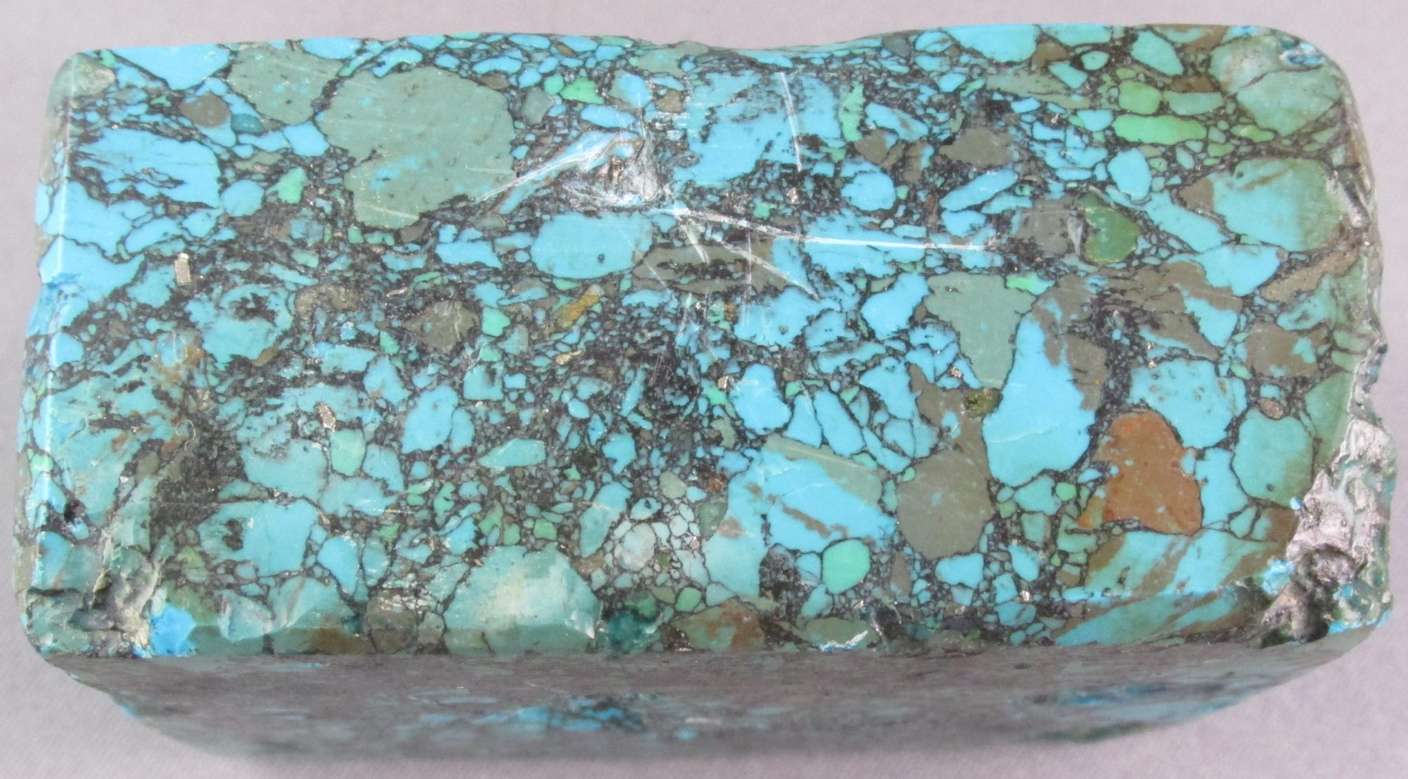 Block Turquoise, made with resin, contains no turquoise