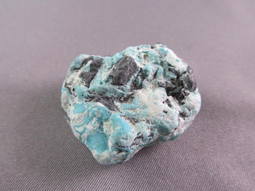 Black Diamond Turquoise with black chert from Nevada