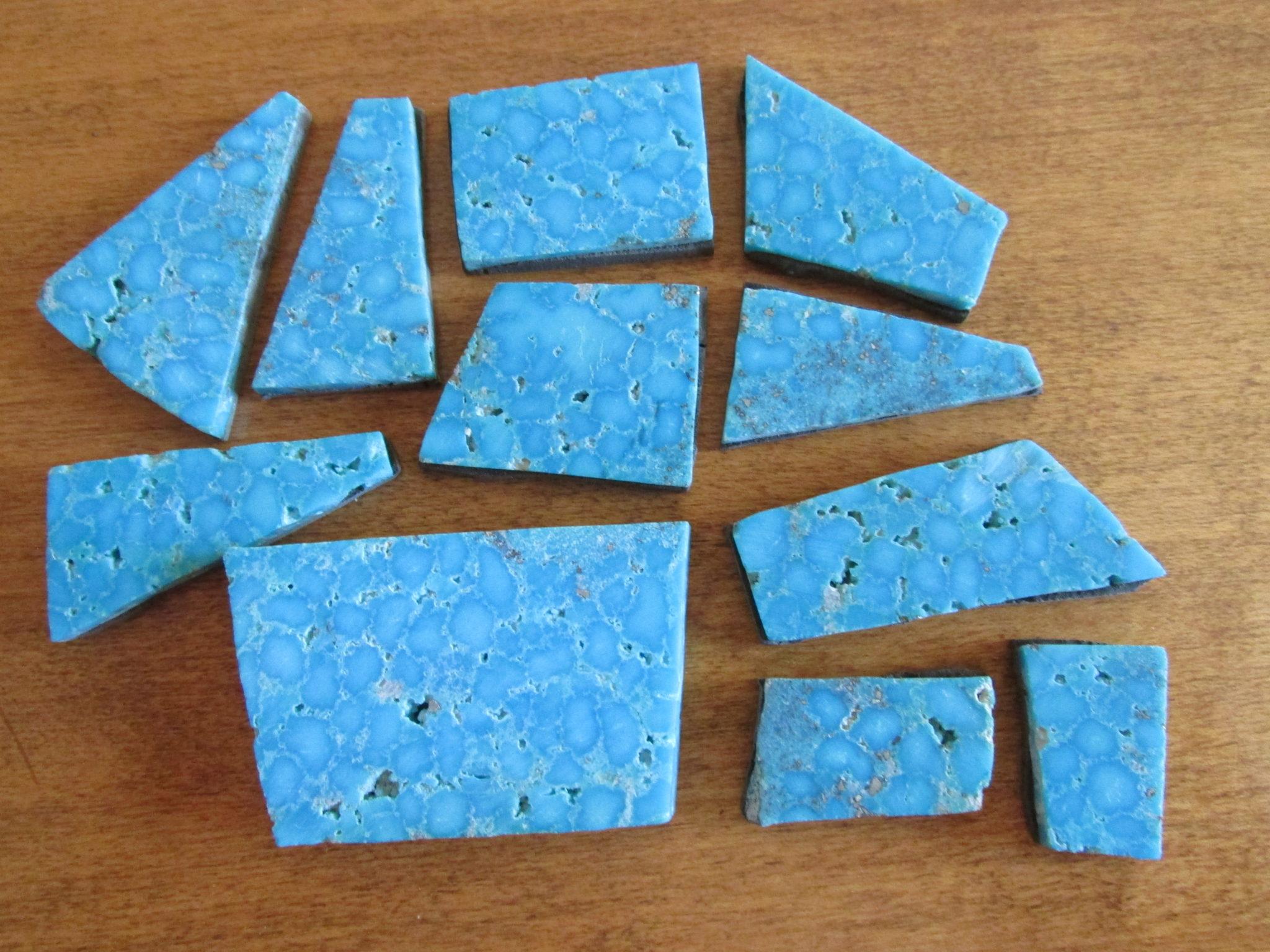 Close-up of Kingman waterweb turquoise slab